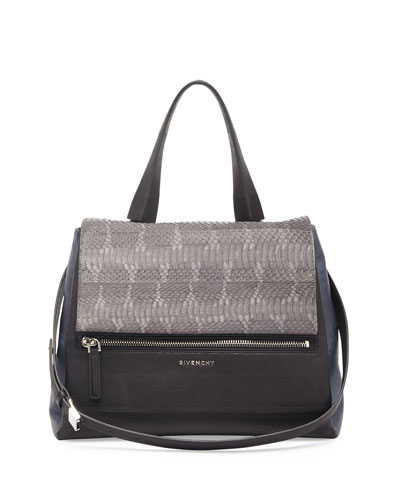 Pandora Pure Medium Ayers Satchel Bag, Dark Gray