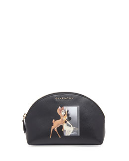 Givenchy Small Fawn-Print Cosmetic Case, Black