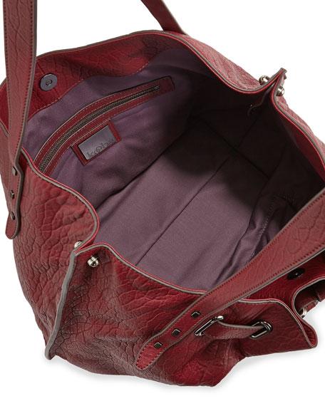 Eva Leather Tote Bag, Bordeaux