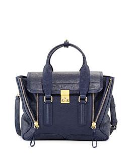 3.1 Phillip Lim Pashli Medium Zip Satchel Bag, Ink