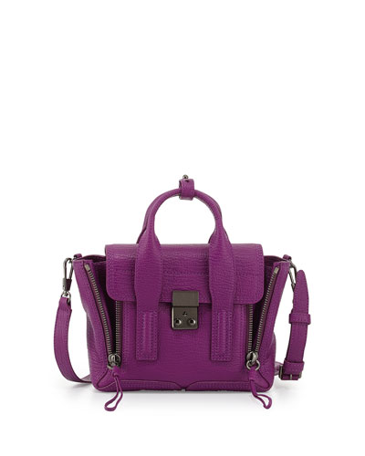 3.1 Phillip Lim Pashli Mini Leather Satchel Bag, Orchid