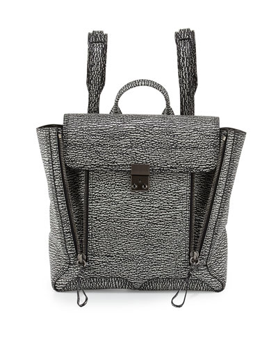 3.1 Phillip Lim Pashli Zip Backpack, Black/Cream