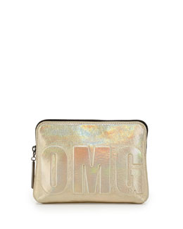 "3.1 Phillip Lim 31-Second ""OMG"" Pouch, Warm Silver"