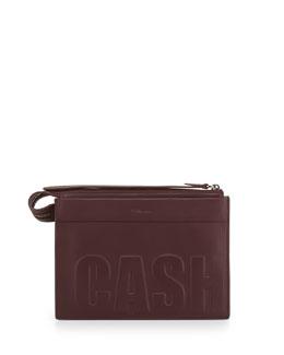 3.1 Phillip Lim Cash Only Depeche Small Clutch Bag, Bordeaux