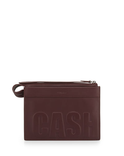 3.1 Phillip Lim Cash Only Depeche Small Clutch Bag, Bordeaux