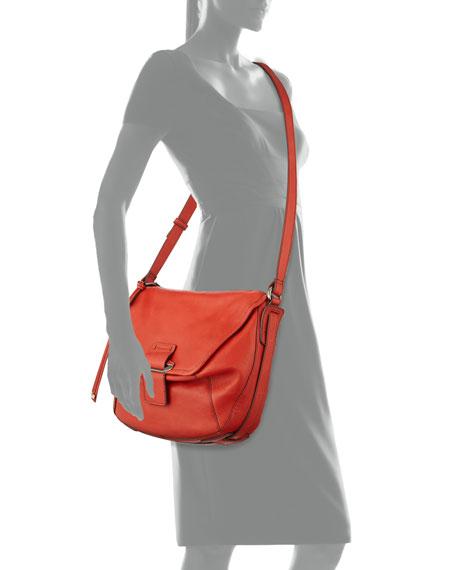Gary Leather Crossbody Bag, Scarlet