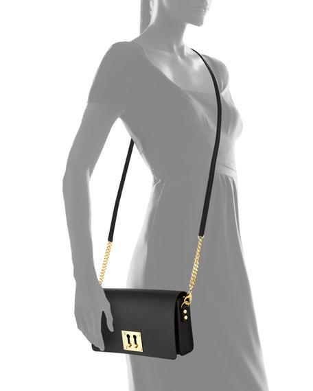 Twin Keyhole Clutch Bag, Black