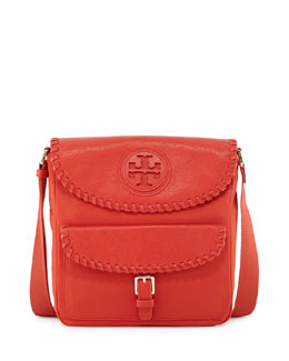 Tory Burch Marion Nylon Whipstitch Messenger Bag, Red