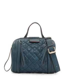 MARC by Marc Jacobs Moto-Quilted Barrel Bag, Hopper Green