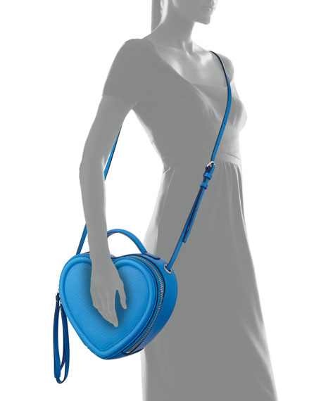 Heart to Heart Crossbody Bag, Electric Blue