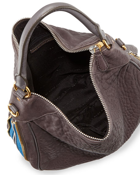 b9eb86c920 MARC by Marc Jacobs Washed Up Billy Hobo Bag, Faded Aluminum Multi