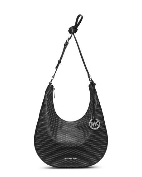 Medium Rhea Studded Slouchy Shoulder Bag