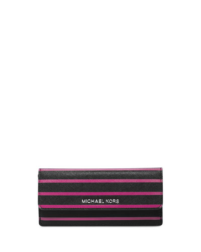 MICHAEL Michael Kors  Jet Set Travel Striped Flap Wallet