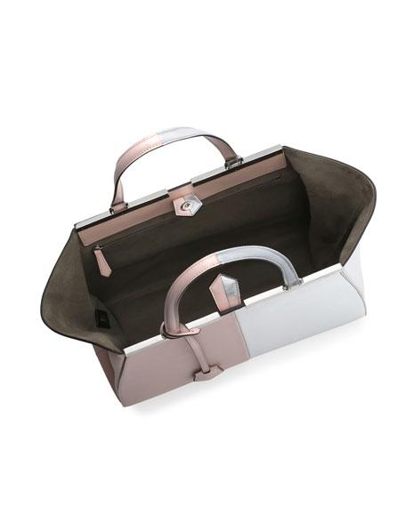 42a67c1770 Fendi Personalized Trois-Jour Grande Leather Tote Bag