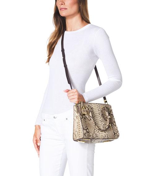 4708181011f3 ... Small Casey Python Satchel Michael Kors Collection small Casey bag ...