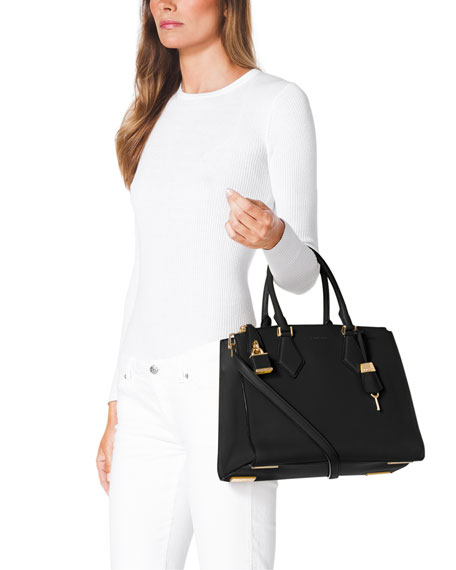 Casey Large Satchel Bag, Black