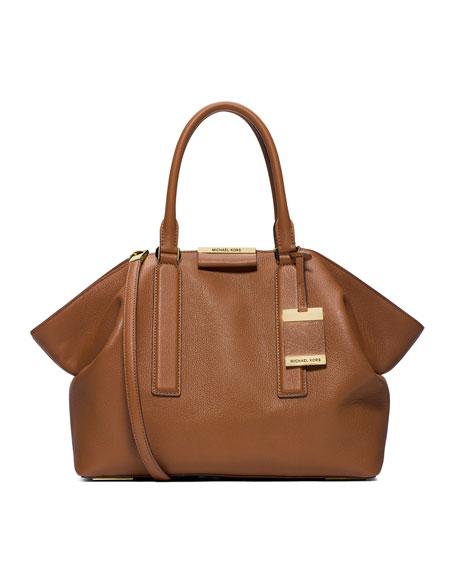 Lexi Large Pebbled Satchel Bag, Luggage