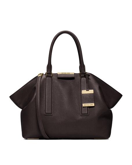michael kors collection large lexi satchel. Black Bedroom Furniture Sets. Home Design Ideas
