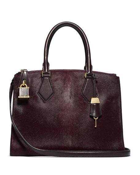 Large Casey Calf Hair Satchel