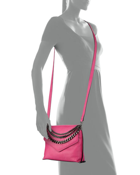 Collins Chain-Strap Crossbody Bag, Fuchsia