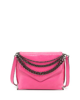 Milly Collins Chain-Strap Crossbody Bag, Fuchsia