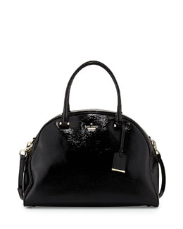 kate spade new york cedar street pearl domed satchel bag, black
