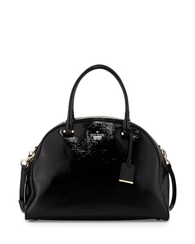 kate spade new york cedar street pearl domed satchel bag, black