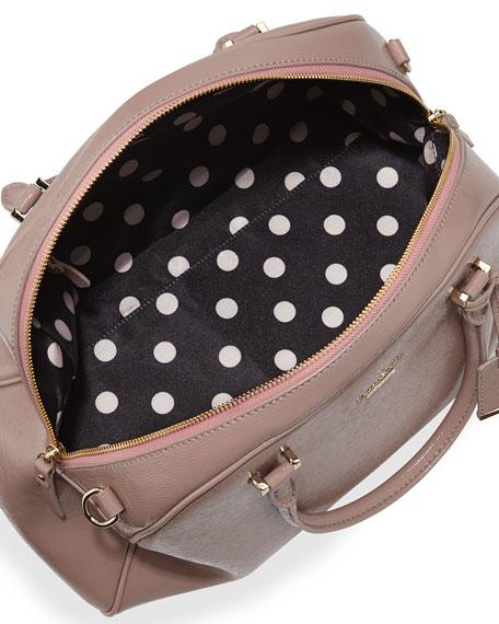 cedar street pearl domed satchel bag, rosewater