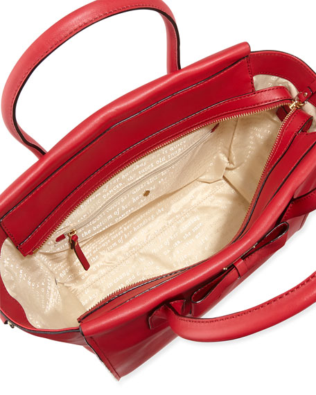 hanover street charee tote bag, dynasty red