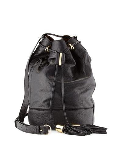 See by Chloe Vicki Large Bucket Bag, Black