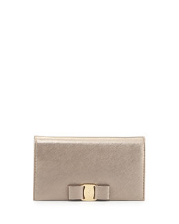 Salvatore Ferragamo Miss Vara Leather Wallet-on-a Chain, Oro