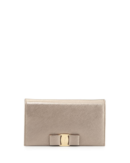 Miss Vara Leather Wallet-on-a Chain, Oro