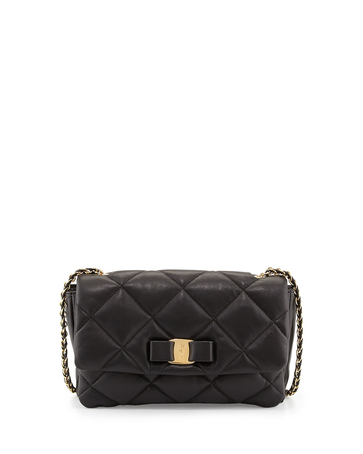2603cf810e Salvatore Ferragamo Gelly Quilted Leather Shoulder Bag