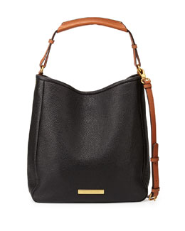 MARC by Marc Jacobs Softy Leather Saddle Hobo Bag, Black