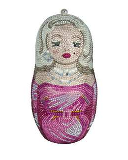 Judith Leiber Couture Russian Doll Crystal Minaudiere, Fuchsia Multi