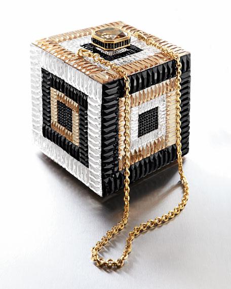Cube Crystal Clutch Bag, Rhine Multi