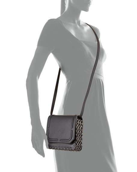 Lypton Chain-Detail Crossbody Bag, Black
