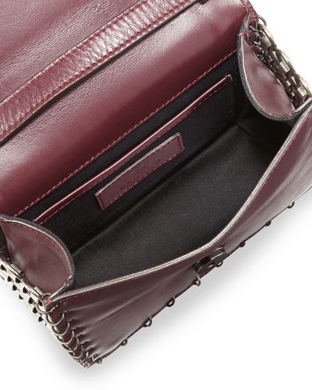 Lypton Chain-Detail Crossbody Bag, Oxblood