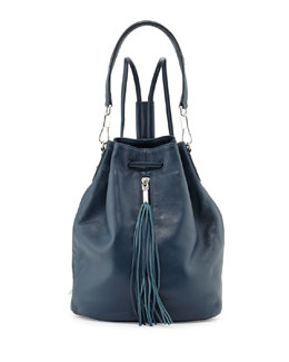 Elizabeth and James Cynnie Leather Tassel Sling Bag, Blue