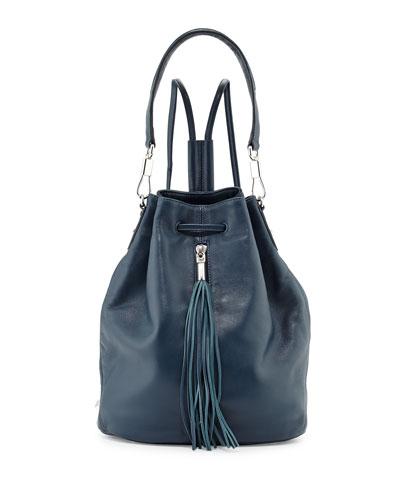 Elizabeth and James Cynnie Leather Tassel Sling Bag, Blue