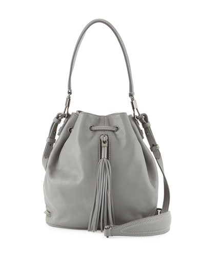 Elizabeth and James Cynnie Mini Tassel Bucket Bag, Ferro