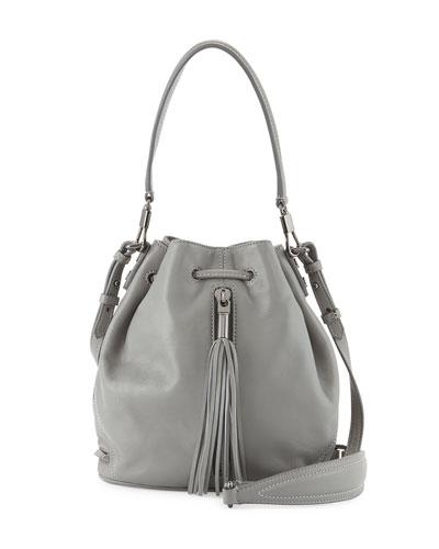 Elizabeth and James Cynnie Mini Tassel Bucket Bag, Ferro