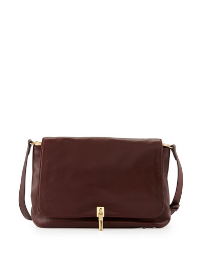 Elizabeth and James Lambskin Crossbody Bag, Merlot
