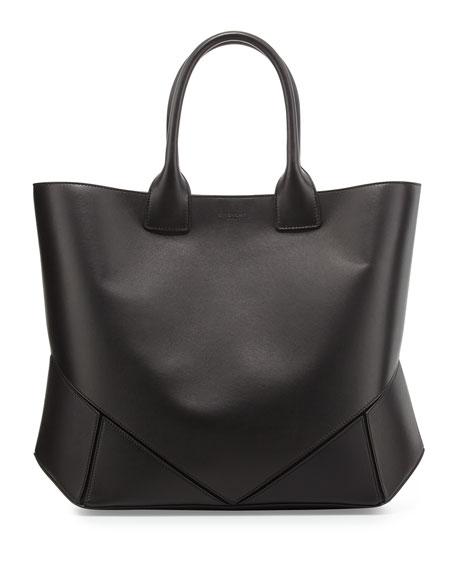Easy Medium Leather Tote Bag, Black