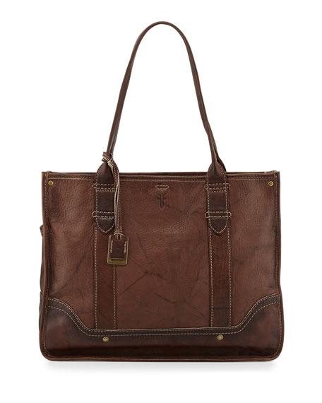 Campus Leather Shopper Bag, Walnut
