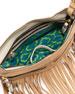 Bristol Fringe Leather Zip Crossbody Bag, Sand