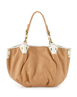 Oryany Jesse Leather Satchel Bag, Sand