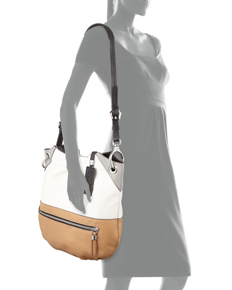 Sydney Colorblock Tote Bag, White Multi