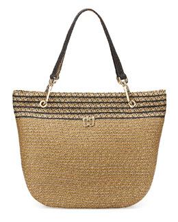 Eric Javits Squishee Clip II Tote Bag, Sulfate/Black