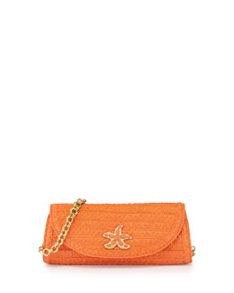 Eric Javits Paradise Woven Clutch Bag, Tangerine